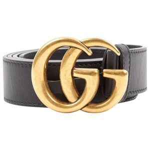 Gucci Belt- Leather Belt with Double G buckle